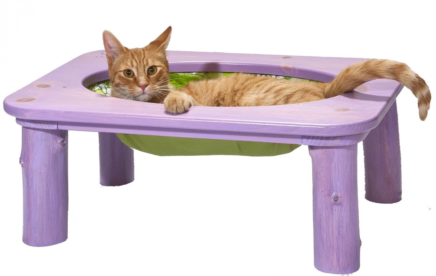 Purrrfect Peedee purple Cat hammock set