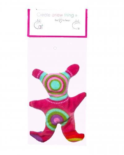 Alien pink flannel cat toy