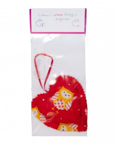 Heart w loop Cat toy