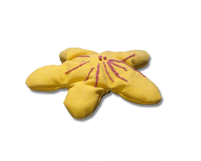 Plumeria cat toy yellow
