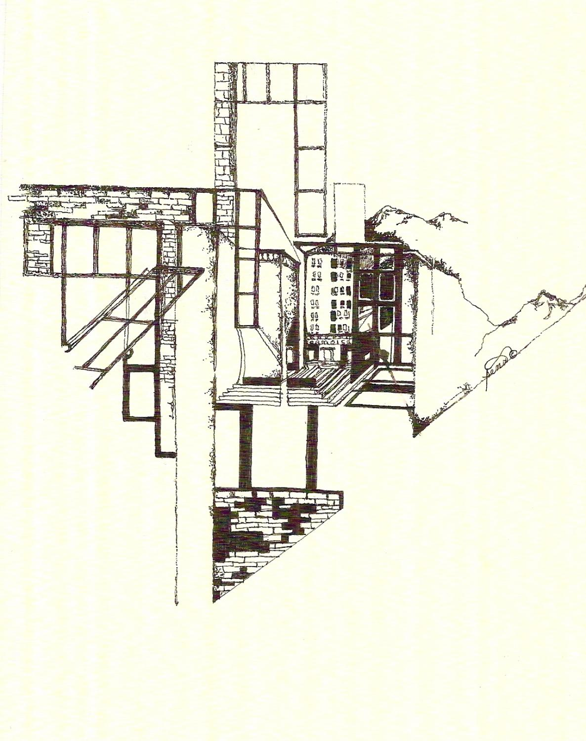 Pen & ink drawing 11 city scape
