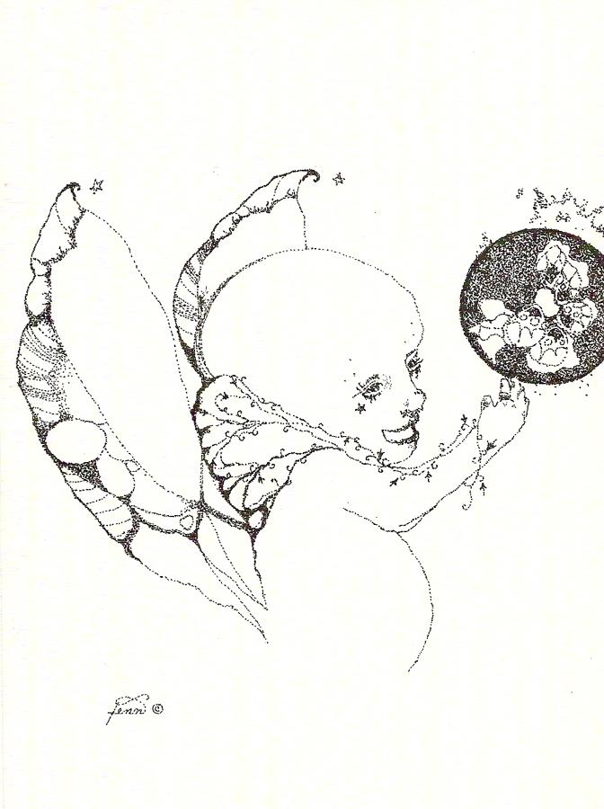 Pen & ink drawing 15 Strange child
