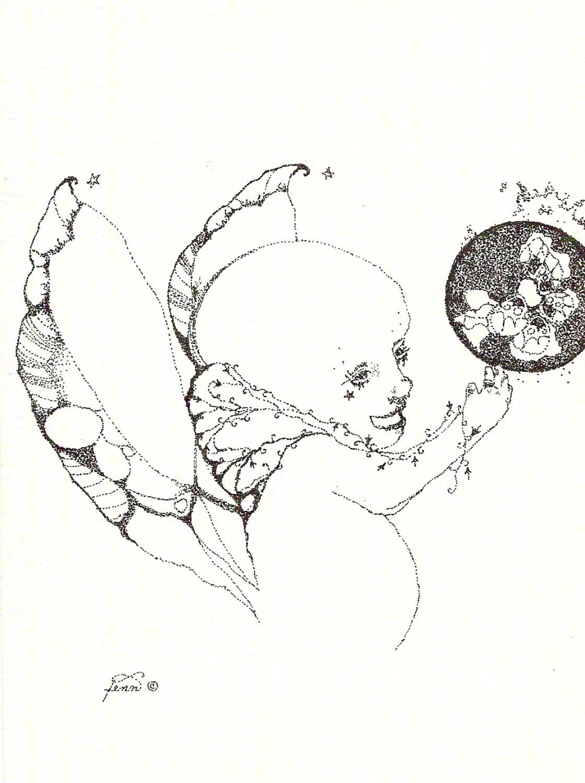 Pen & ink drawing 15 Strange child