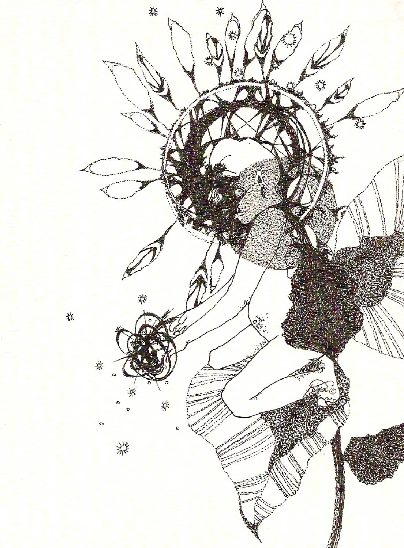Pen & ink drawing 16 Strange child II