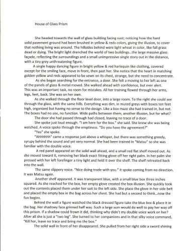 Story Chapter 1  House of Glass Prism