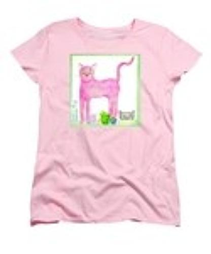 P ink ee Cat ladies t-shirt
