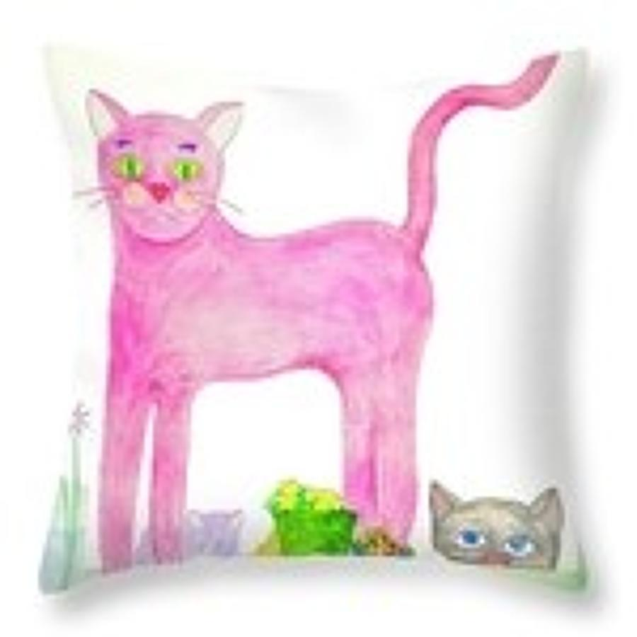 P ink ee throw pillow