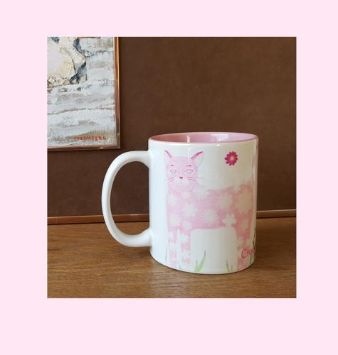 P ink ee ceramic mug world of Daisy